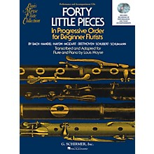 G. Schirmer 40 Little Pieces in Progressive Order for Beginner Flutists Woodwind Solo CD Composed by Various Edited by Louis Moyse