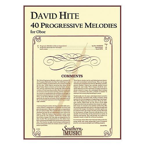 Southern 40 Progressive Melodies (Oboe) Southern Music Series Arranged by David Hite-thumbnail