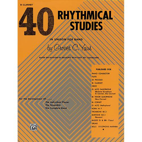 Alfred 40 Rhythmical Studies B-Flat Clarinet