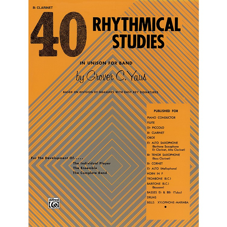 Alfred40 Rhythmical Studies B-Flat Clarinet