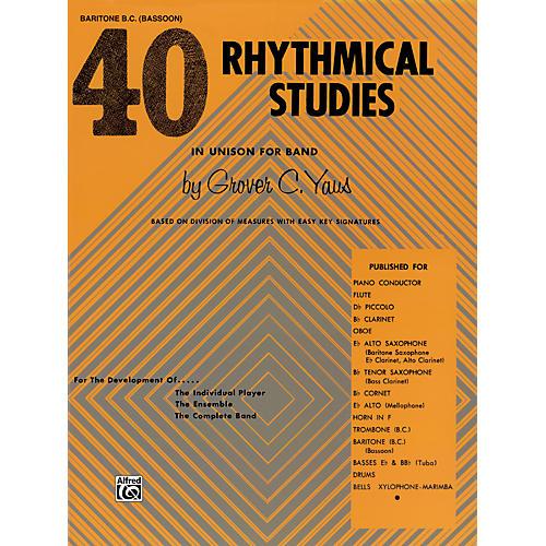 Alfred 40 Rhythmical Studies Baritone (B.C.) & Bassoon
