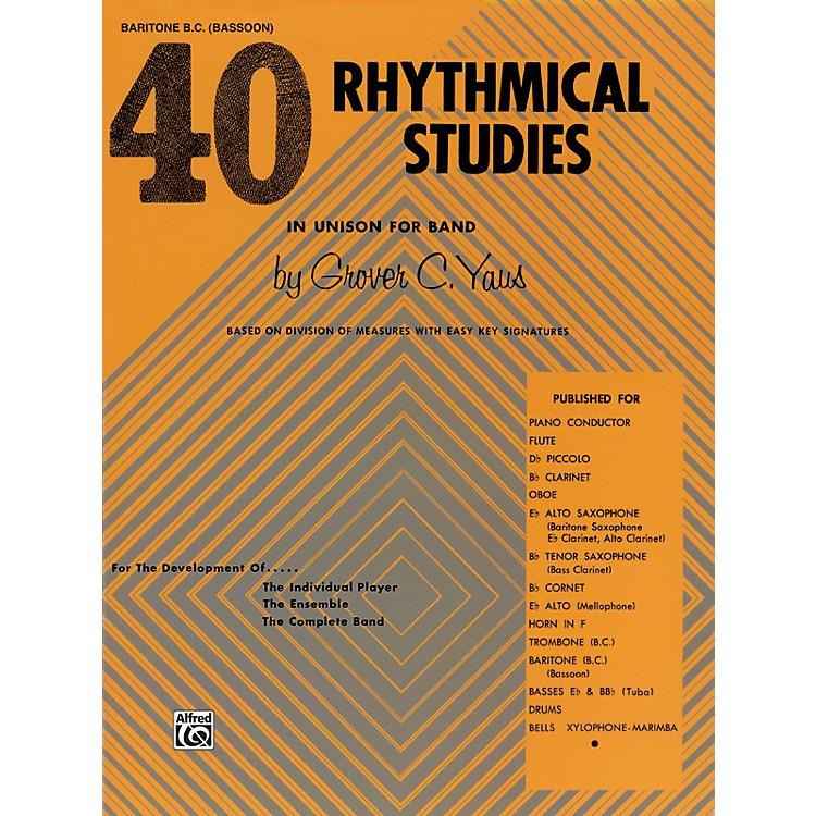 Alfred40 Rhythmical Studies Baritone (B.C.) & Bassoon