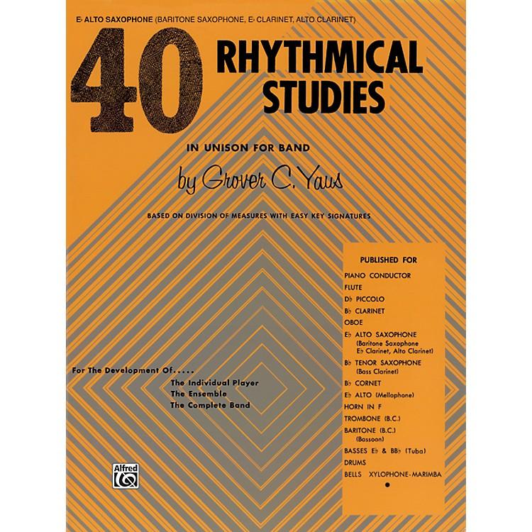Alfred40 Rhythmical Studies E-Flat Alto Saxophone