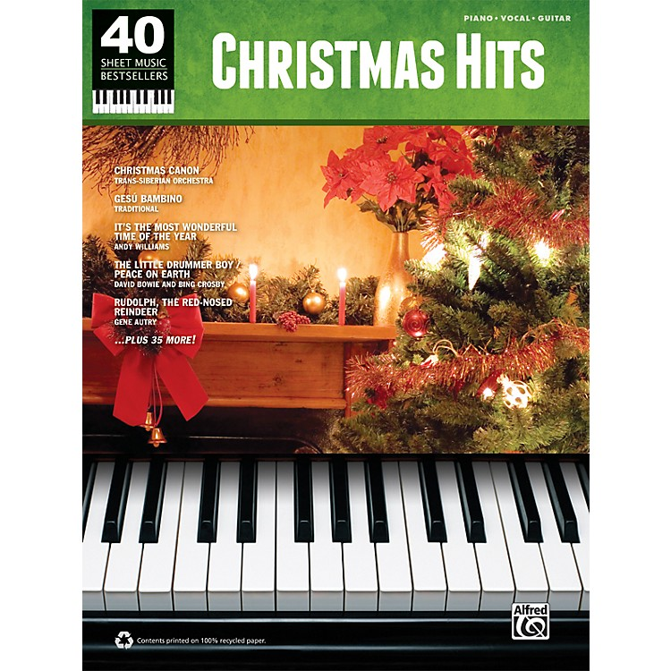 Alfred 40 Sheet Music Best Sellers Christmas Hits PVG SONG BOOK