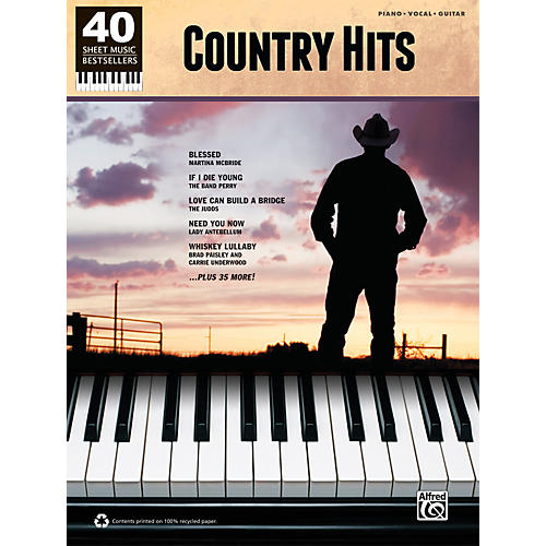 Alfred 40 Sheet Music Bestsellers: Country Hits Book-thumbnail