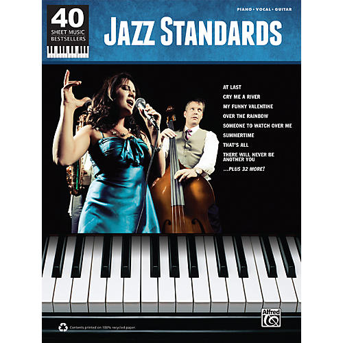 Hal Leonard 40 Sheet Music Bestsellers: Jazz Standards Book
