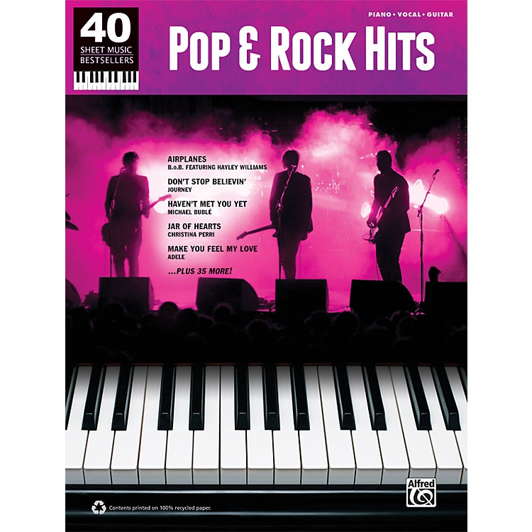 Alfred 40 Sheet Music Bestsellers: Pop & Rock Hits Book