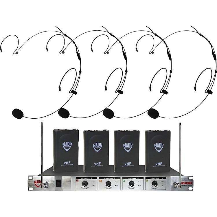 Nady401X Quad HM-20U Headset Wireless System