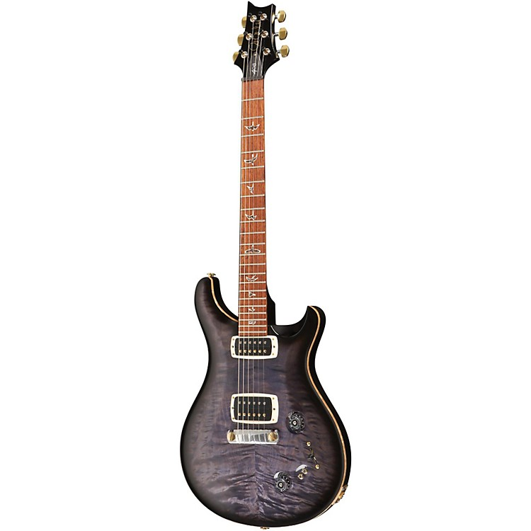 PRS408 Quilt Top Stoptail with Hybrid Hardware and Pattern Thin Neck Electric GuitarPurple Hazel