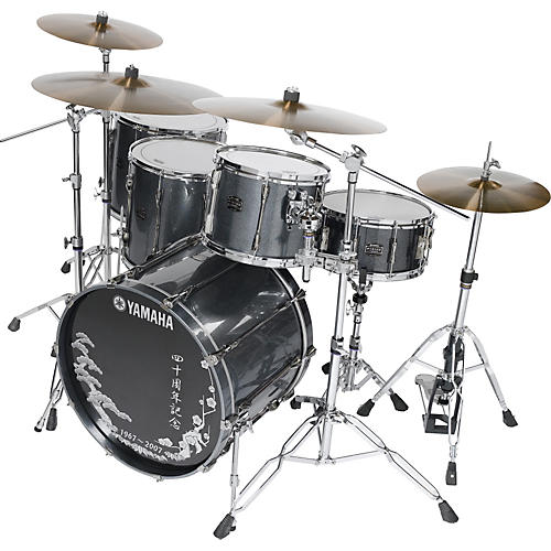 Yamaha 40th Anniversary Temple Silver 5-Piece Shell Pack