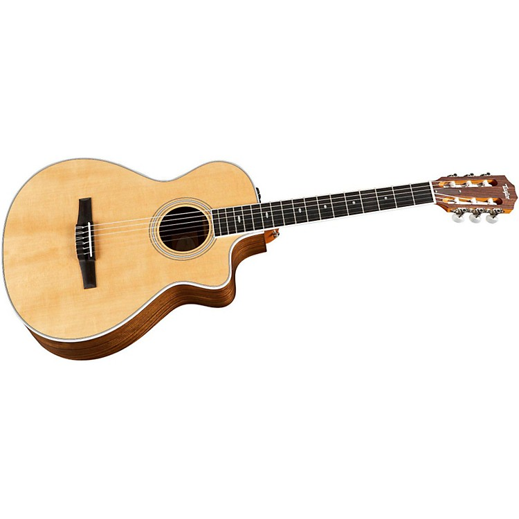 Taylor412ce-N Ovangkol/Spruce Nylon String Grand Concert Acoustic-Electric Guitar
