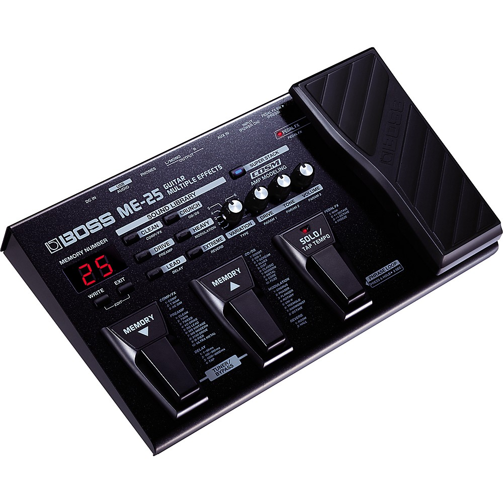 boss me 25 guitar multi effects pedal ebay