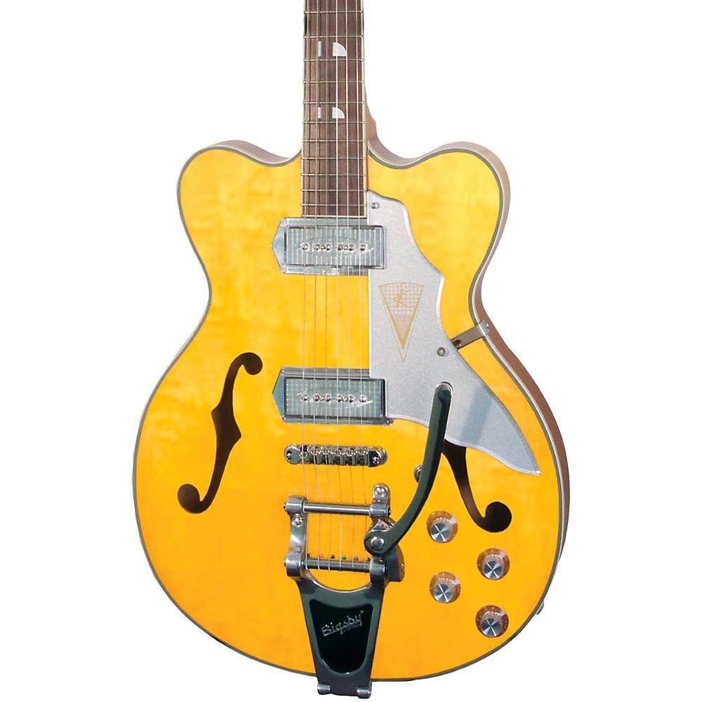 Kay Vintage Reissue Guitars Jazz Ii Electric Guitar Natural Blonde