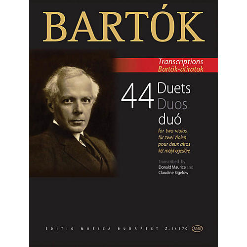 Editio Musica Budapest 44 Duets for Two Violas (From the 44 Violin Duets) EMB Series Softcover Composed by Béla Bartók-thumbnail