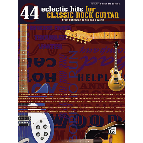 Alfred 44 Eclectic Hits for Classic Rock Guitar Tab Songbook-thumbnail