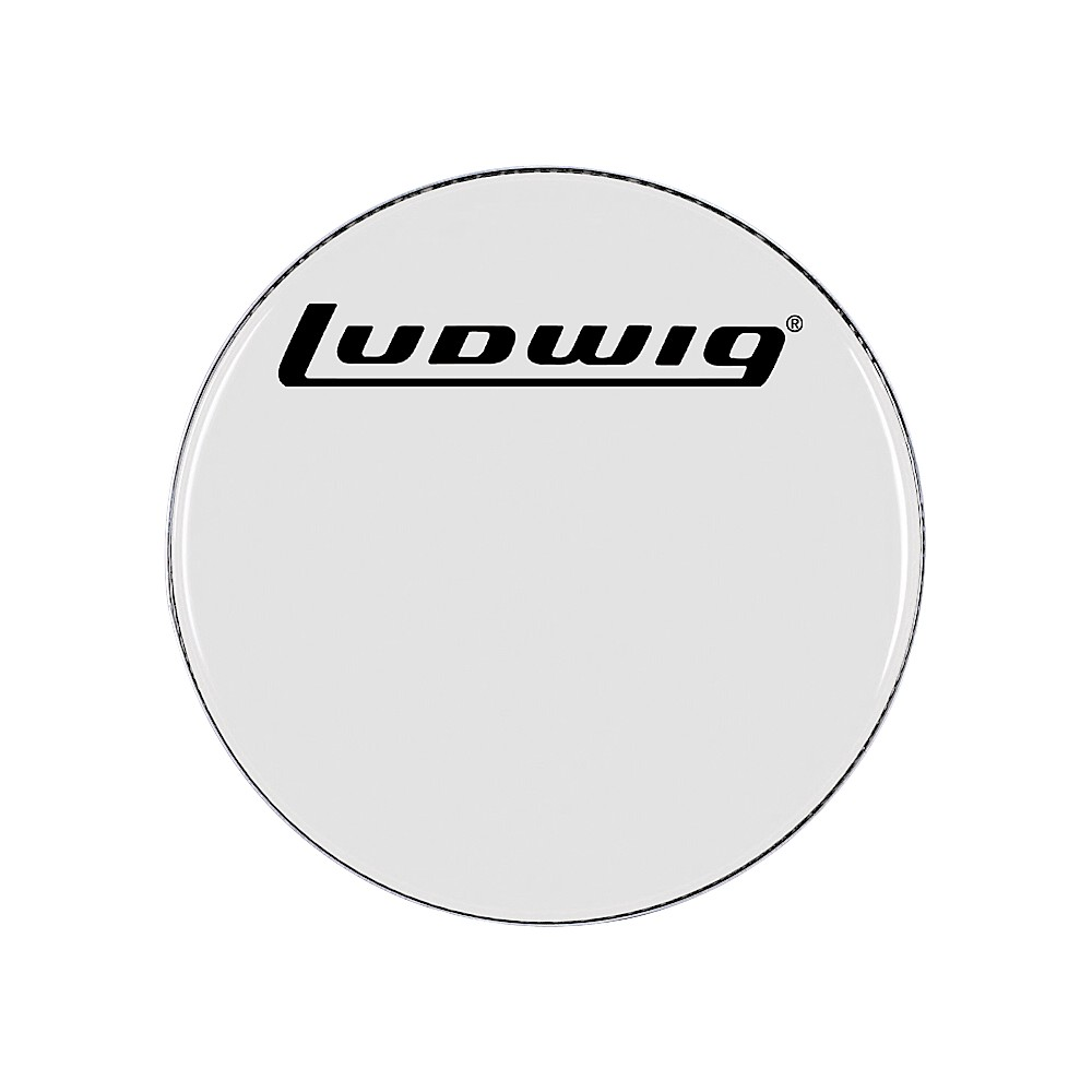 ludwig smooth white bass drum head 24 inch ebay. Black Bedroom Furniture Sets. Home Design Ideas