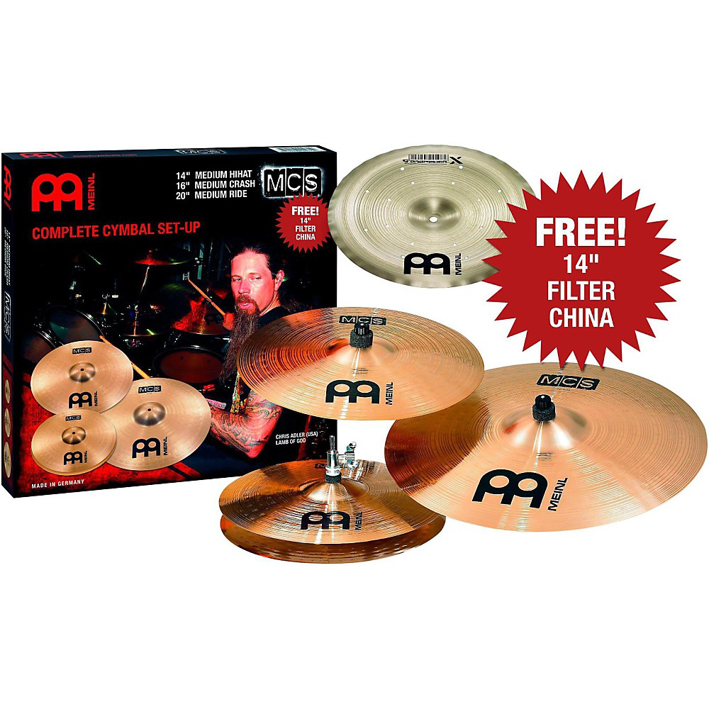 Meinl Electronic Cymbals Best Electrical Circuit Wiring Diagram Piece Drum Set 16quot X 12quot Kick Drums Percussion Mcs Cymbal Pack With Free Setup