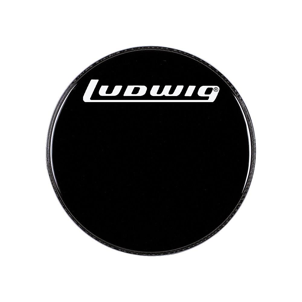upc 641064129575 ludwig logo resonance bass drum head black 24 inch. Black Bedroom Furniture Sets. Home Design Ideas