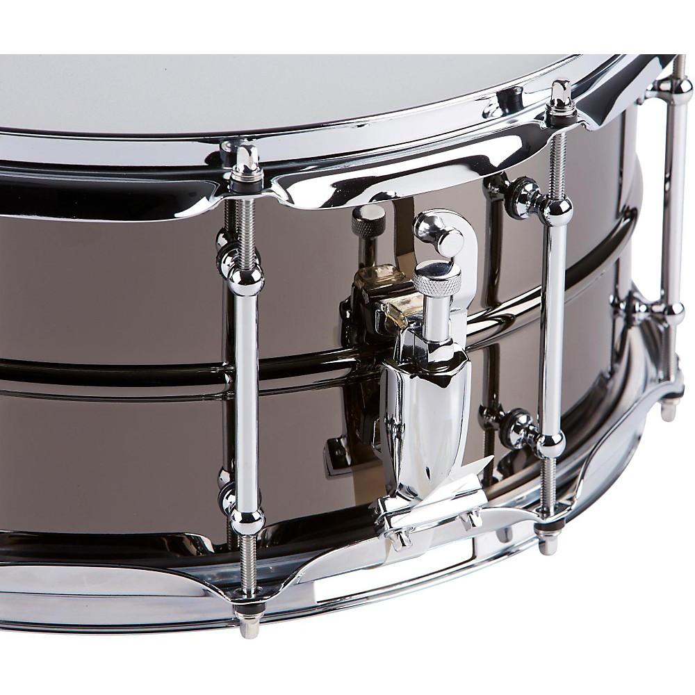 Pork Pie Big Black Brass Snare Drum With Tube Lugs And ...