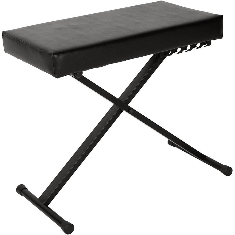 Quick Lok Deluxe Keyboard Bench With Large Extra Thick Seat Cushion