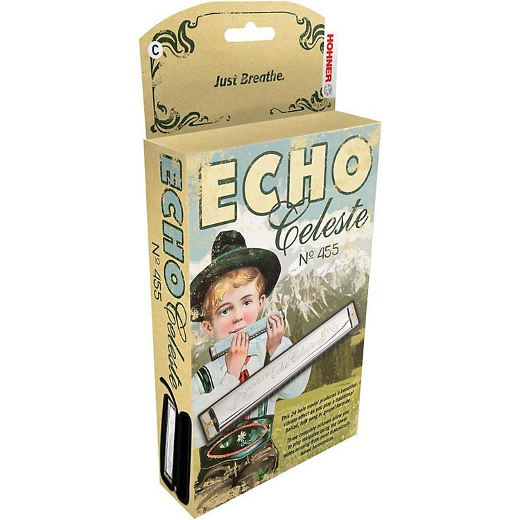 Hohner455 Echo Celeste Tremolo HarmonicaAb