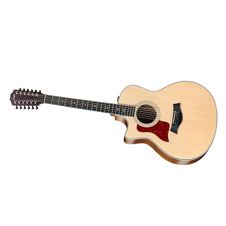 Taylor456ce-L Ovangkol/Spruce Grand Symphony 12-String Left-Handed Acoustic-Electric GuitarNatural