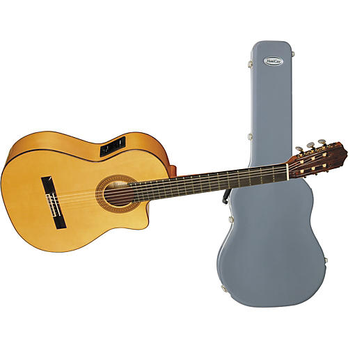 Cordoba 45FCE Nylon String Cutaway Acoustic-Electric Guitar with Humicase