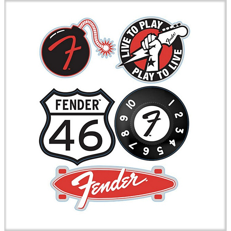 Fender'46 Die-Cut Stickers (5 Pack)