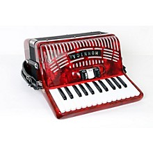 Hohner 48 Bass Entry Level Piano Accordion Level 2 Red 190839031570