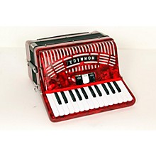 Hohner 48 Bass Entry Level Piano Accordion Level 2 Red 888365664347