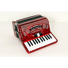 Hohner 48 Bass Entry Level Piano Accordion Level 2 Red 888365674827