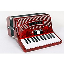 Hohner 48 Bass Entry Level Piano Accordion Level 2 Red 888365722528