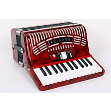 Hohner 48 Bass Entry Level Piano Accordion Level 2 Red 888365722535