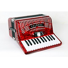 Hohner 48 Bass Entry Level Piano Accordion Level 2 Red 888365775432