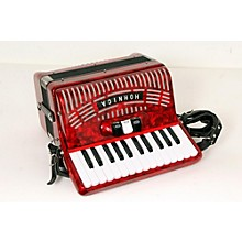 Hohner 48 Bass Entry Level Piano Accordion Level 2 Red 888365778433