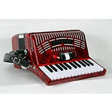 Hohner 48 Bass Entry Level Piano Accordion Level 2 Red 888365955735