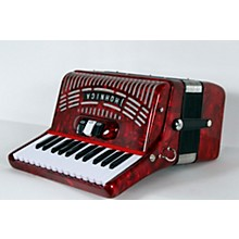 Hohner 48 Bass Entry Level Piano Accordion Level 2 Red 888366033944