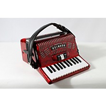 Hohner 48 Bass Entry Level Piano Accordion Level 2 Red 888366047095