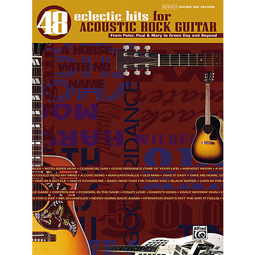 Alfred 48 Eclectic Hits for Acoustic Rock Guitar Tab Songbook-thumbnail