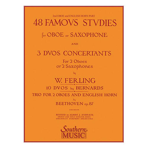 Southern 48 Famous Studies (2nd and 3rd Part) (Oboe) Southern Music Series by Franz Wilhelm Ferling-thumbnail