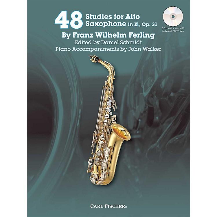 Carl Fischer48 Studies for Alto Saxophone in Eb, Op. 31 Book/CD