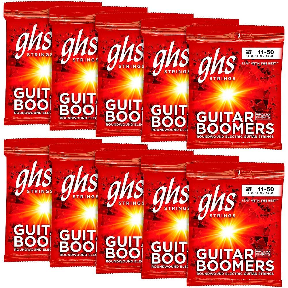 ghs boomers medium electric guitar strings 10 pack ebay. Black Bedroom Furniture Sets. Home Design Ideas