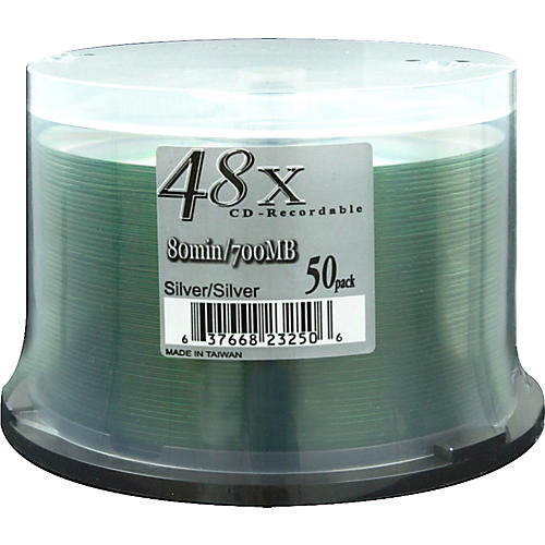 Musician's Friend 48X Silver CDR/50-Piece Spindle
