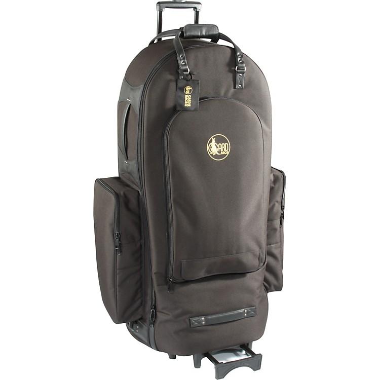 Gard5/4 Tuba Wheelie Bag65-WBFSK BlackSynthetic w/ Leather Trim