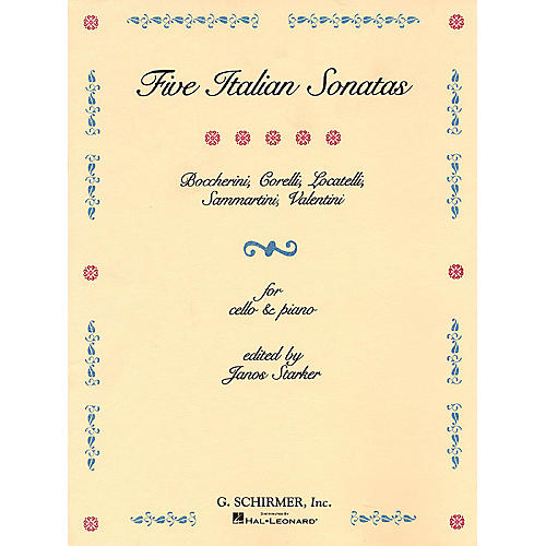 G. Schirmer 5 Italian Sonatas (Cello and Piano) String Solo Series Composed by Various Edited by E Starker-thumbnail