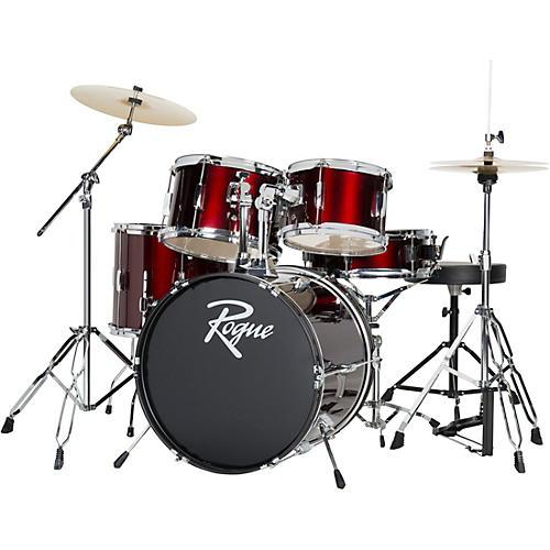 open box rogue 5 piece complete drum set wine red musician 39 s friend. Black Bedroom Furniture Sets. Home Design Ideas