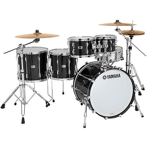 Yamaha 5-Piece Recording Custom Shell Pack Solid Black