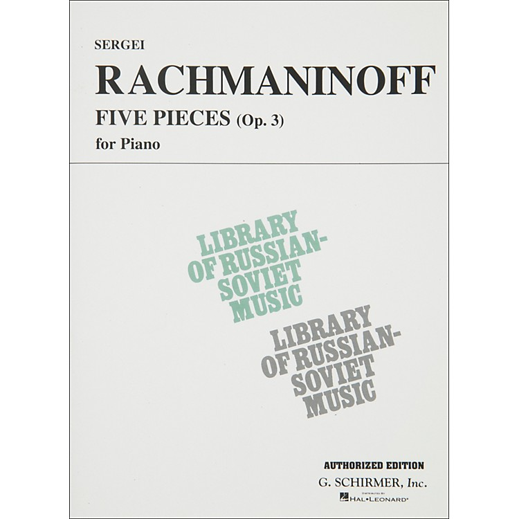 Hal Leonard 5 Pieces Op 3 for Piano Rachmaninoff By Rachmaninoff