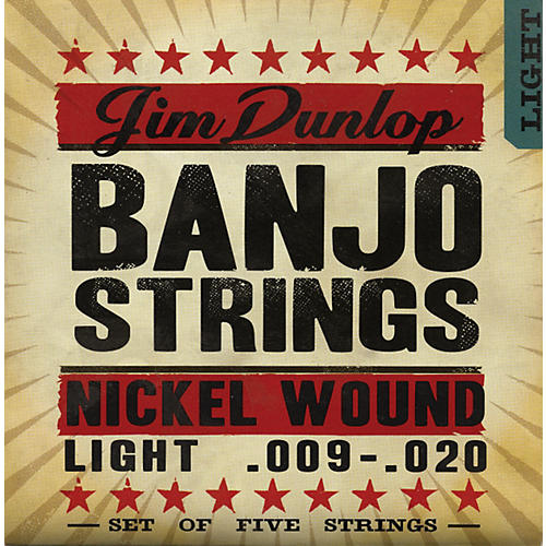 Dunlop 5-String Banjo Light Nickel String Set