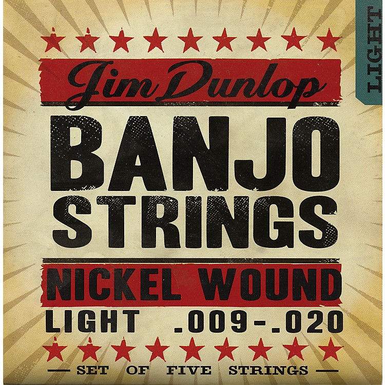 Dunlop5-String Banjo Light Nickel String Set